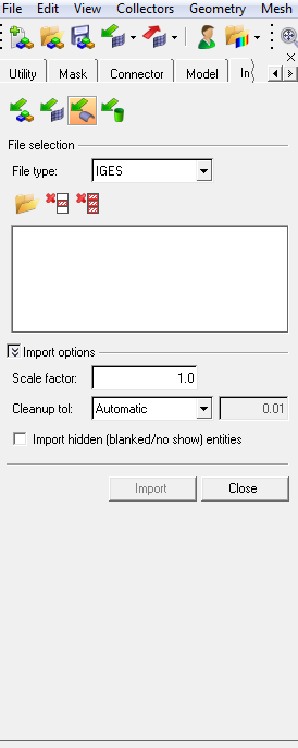 import IGES into hypermesh and make as solid - Altair