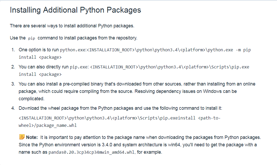 Install Python modules - Altair Compose - Altair Forum