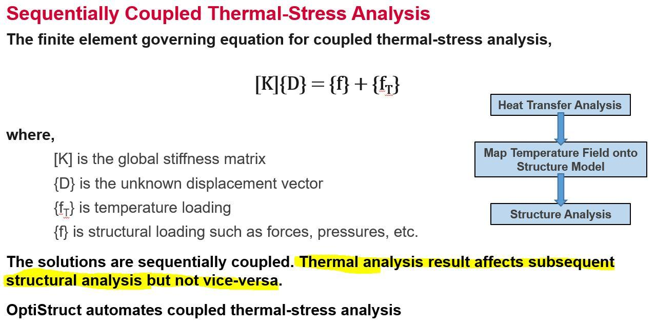 Thermal couple Structure - Altair OptiStruct - Altair Forum